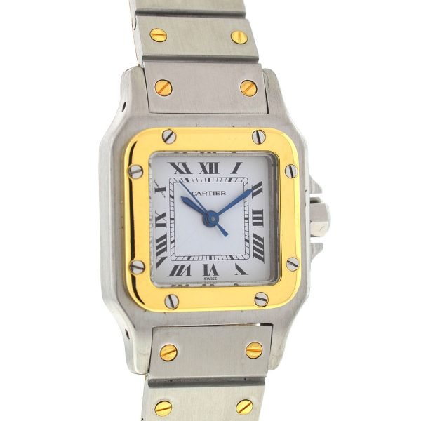 Cartier Santos Two Tone Automatic Ladies 23mm Watch