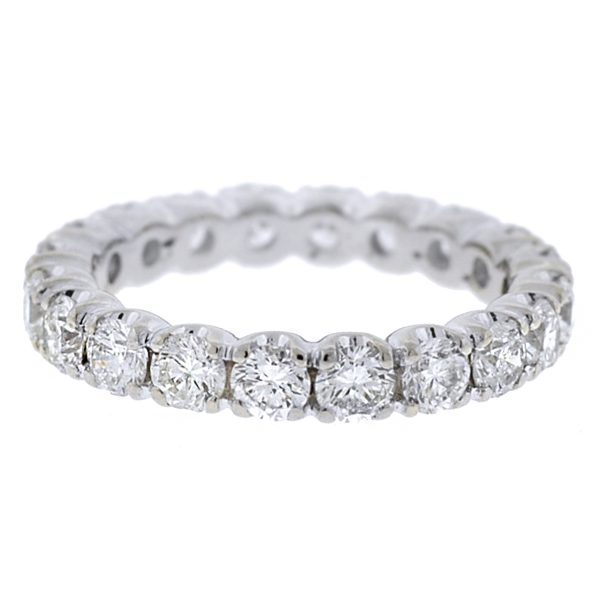 20 Stone White Gold Round Diamond Eternity Band Ring
