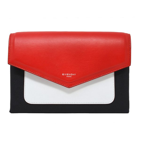 Givenchy Duetto Red White & Black Color Block Crossbody Bag