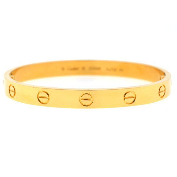 Cartier 18k Yellow Gold LOVE Bracelet Size 16 NEW STYLE