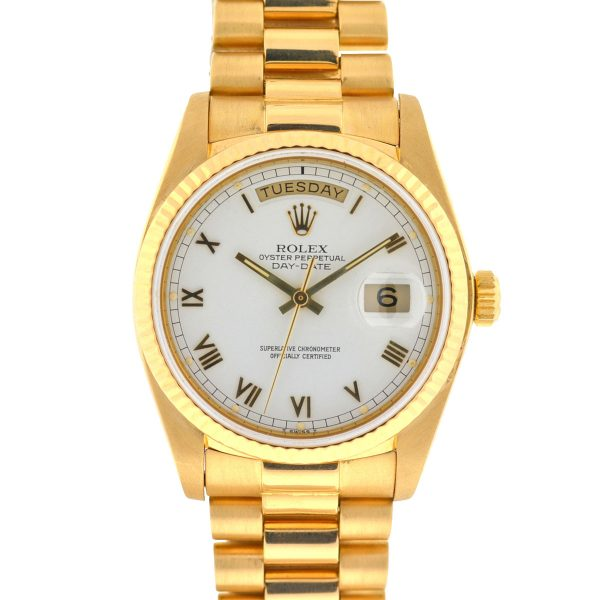 Rolex 18038 Day-Date President Single Quick 18k Yellow Gold Automatic Watch