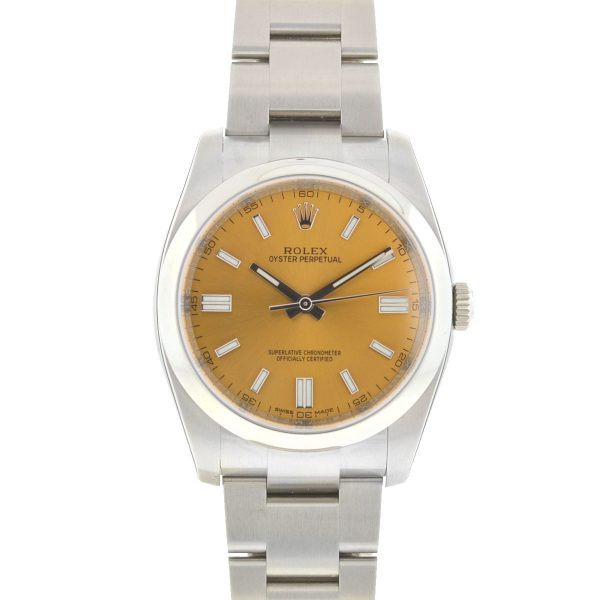 Rolex 116000 Oyster Perpetual White Grape Dial New Stickered Automatic Watch