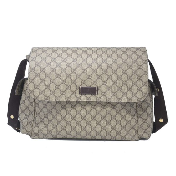 Gucci Plus GG Monogram Supreme Canvas Plus Diaper Bag