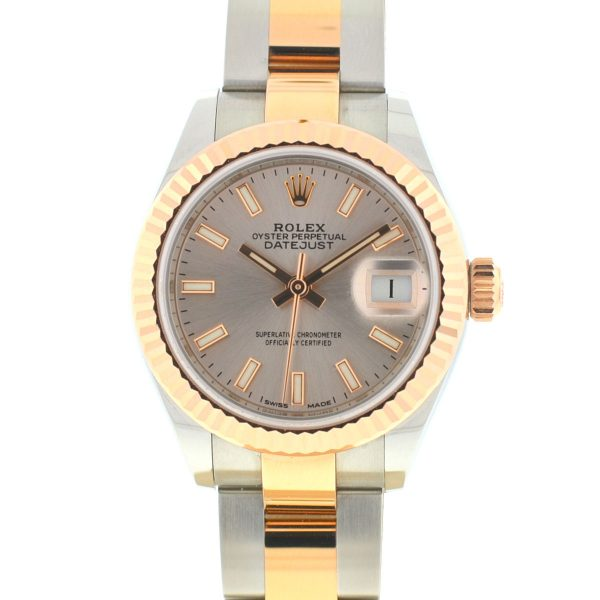 Rolex 279171 Datejust Two Tone Rose Gold Stainless Steel Ladies Watch