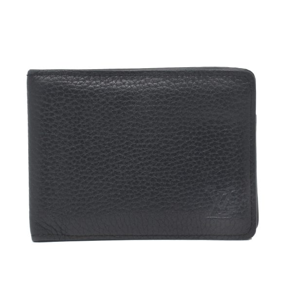 Louis Vuitton Black Taurillon Leather Bi-Fold Men's Wallet