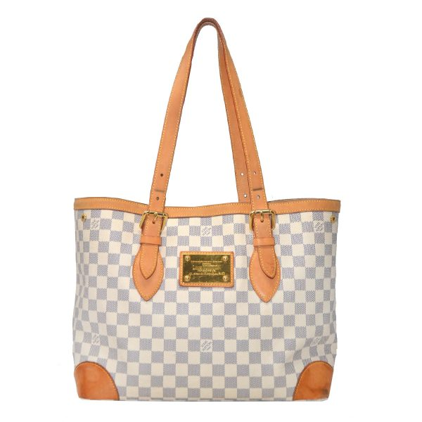 Louis Vuitton Hampstead MM Damier Azur Canvas Shoulder Bag