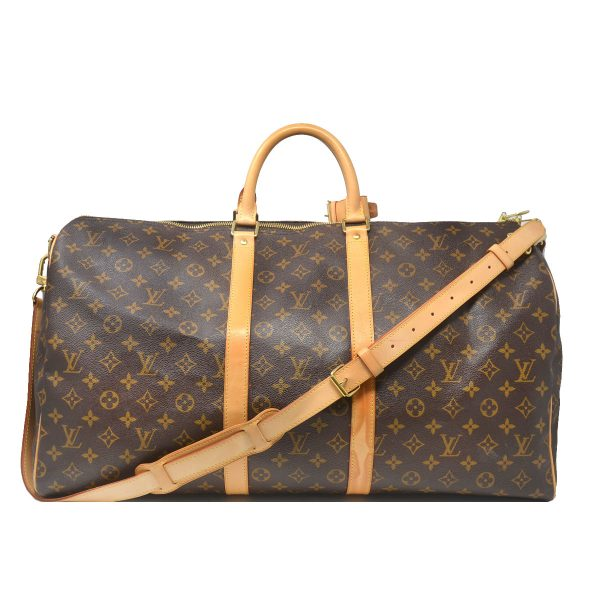 Louis Vuitton Keepall 55 Bandouliere Monogram Canvas Duffle Travel Bag