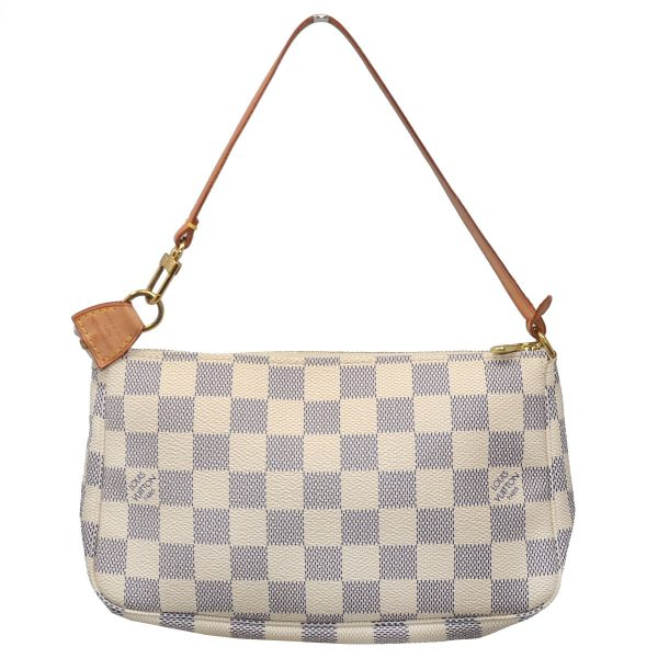 Louis Vuitton Damier Azur Canvas Pochette Clutch Handbag