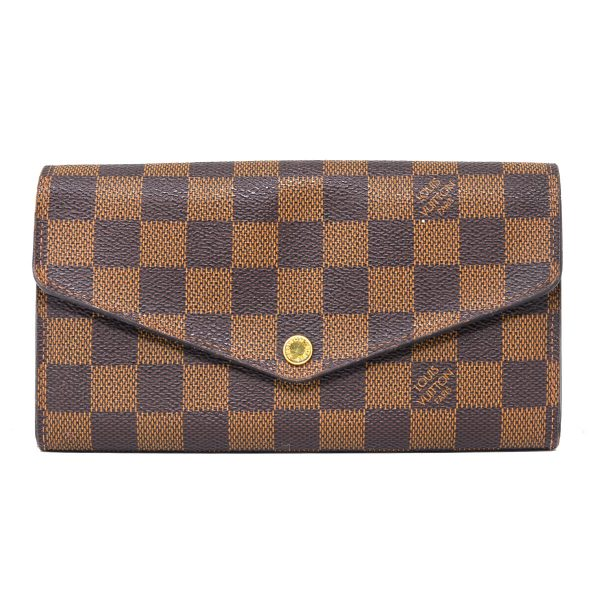 Louis Vuitton Damier Ebene Canvas Sarah Clutch Wallet