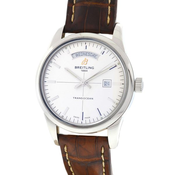Breitling Transocean A45310 Day Date Stainless Steel Automatic Men's Watch