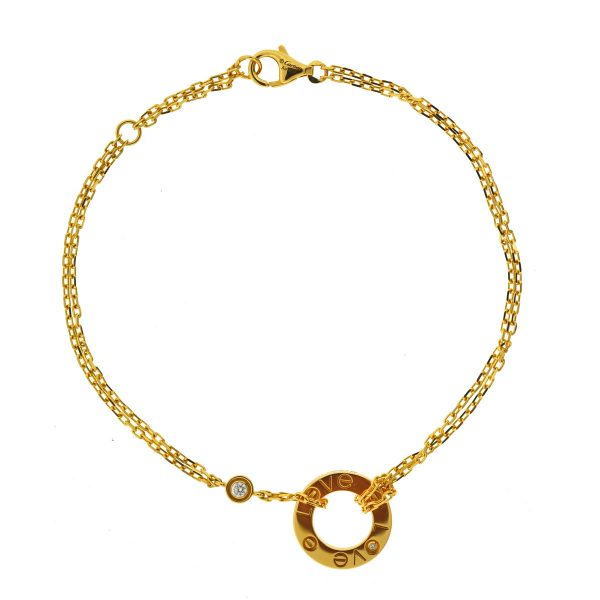 Cartier 18k Yellow Gold Diamond LOVE Bracelet