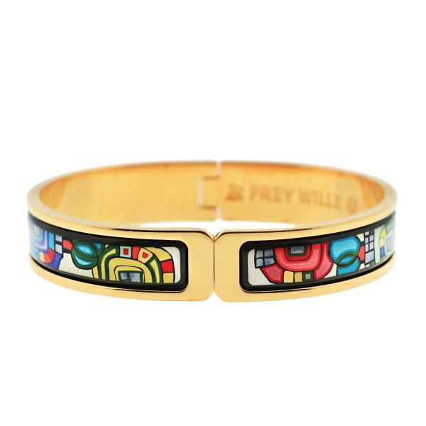 Frey Wille Gold Plated Enamel Bangle Bracelet