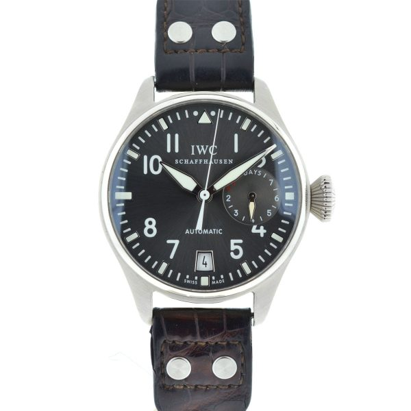 IWC Big Pilot IW5004-02 18k White Gold Leather Strap Automatic Men's Watch