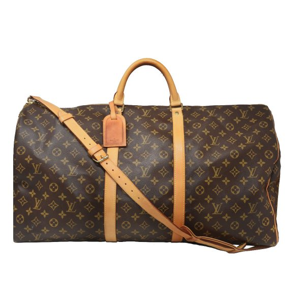 Louis Vuitton Keepall 60 Bandouliere Monogram Canvas Duffle Travel Bag