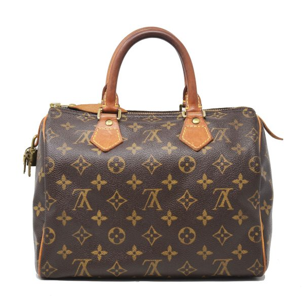 Louis Vuitton Speedy 25 Handbag Brown Monogram Canvas Shoulder Bag