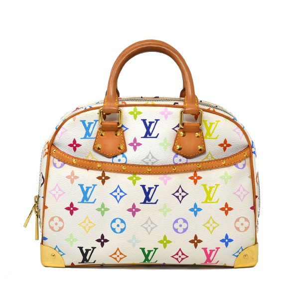 Louis Vuitton Trouville White Monogram Multicolor Canvas Handbag