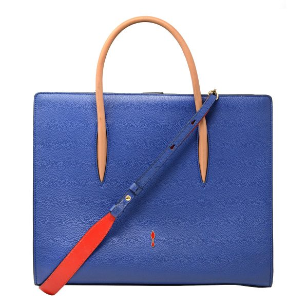 Christian Louboutin Paloma Blue Leather Medium Tote Bag
