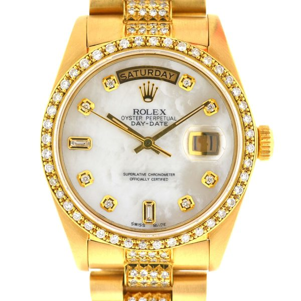 Rolex 18038 18k Yellow Gold Single Quick Day-Date President Watch