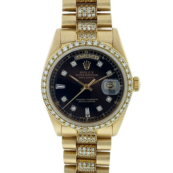 Rolex 18038 18k Yellow Gold Single Quick Day-Date President Automatic Watch