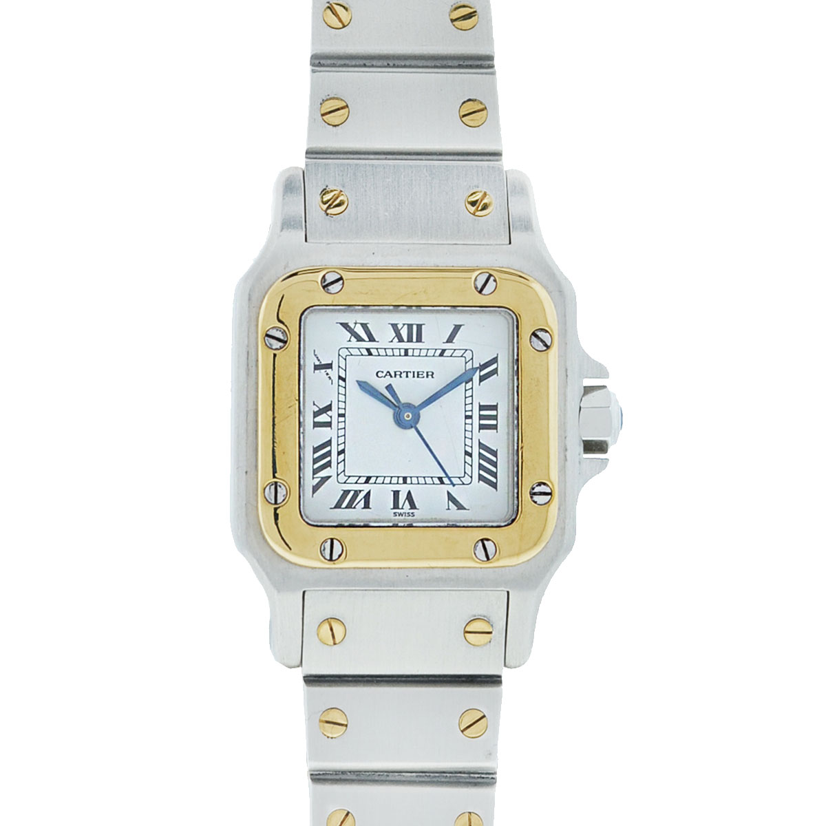 Cartier Santos Small Two-Tone Stainless Steel 23mm Automatic Ladies Watch