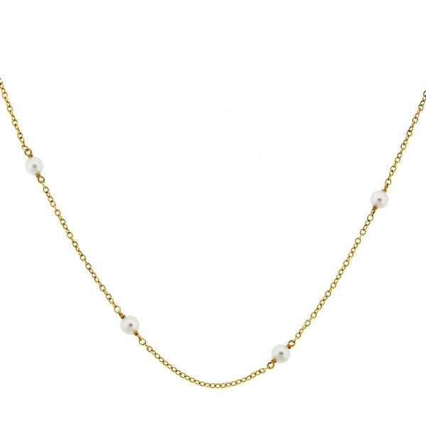 Tiffany & Co. Vintage Peretti 18k Yellow Gold Pearl Choker Necklace