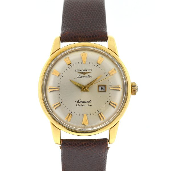 Longines Vintage Conquest Calendar Yellow Gold Automatic Watch