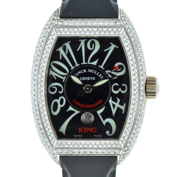 Franck Muller 8001 SC King Conquistador 18k White Gold Diamond Watch