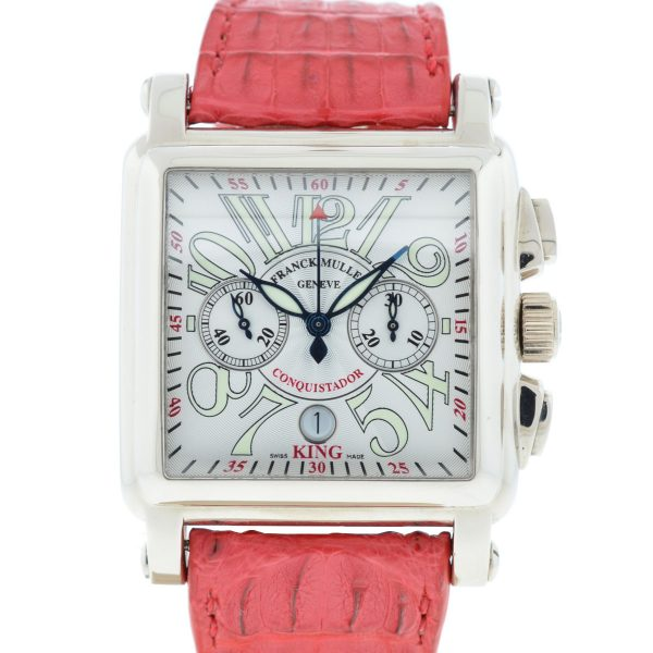 Franck Muller 119 18k White Gold Conquistador Cortez 10000 K CC Men's Watch