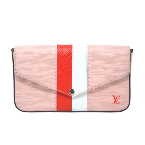 Louis Vuitton Pochette Felicie Pink Epi Leather Crossbody Bag