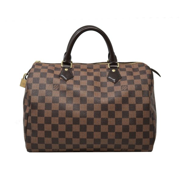 Louis Vuitton Speedy 30 Damier Ebene Canvas Handbag