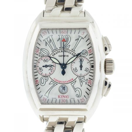 Franck Muller 18k White Gold Conquistador 8005 CC King No 16 Automatic Watch