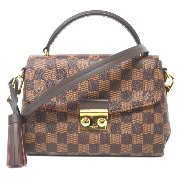 Louis Vuitton Croisette Damier Ebene Canvas Crossbody Shoulder Bag