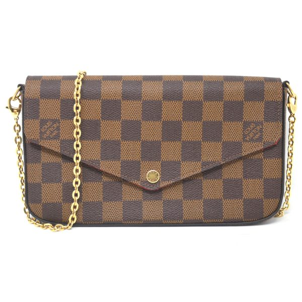 Louis Vuitton Felicie WOC Damier Ebene Canvas Pochette Crossbody Bag