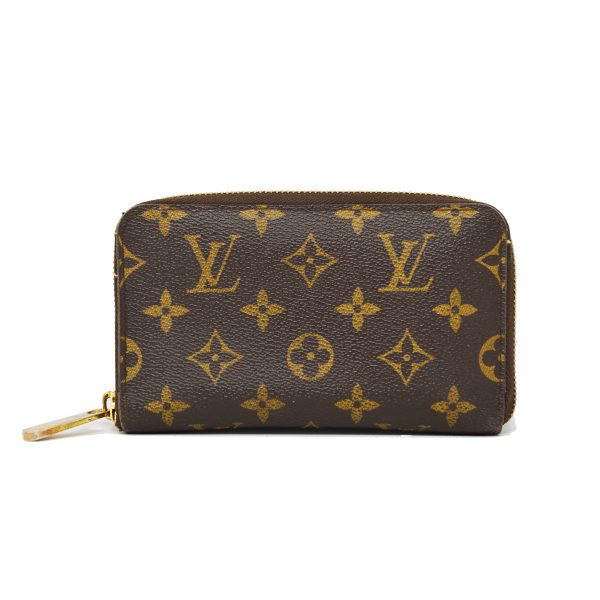 Louis Vuitton Brown Monogram Canvas Zipper Wallet