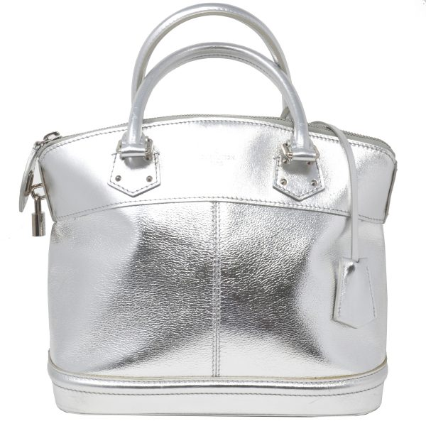 Louis Vuitton Suhali Lockit Pm Metallic Silver Satchel Handbag
