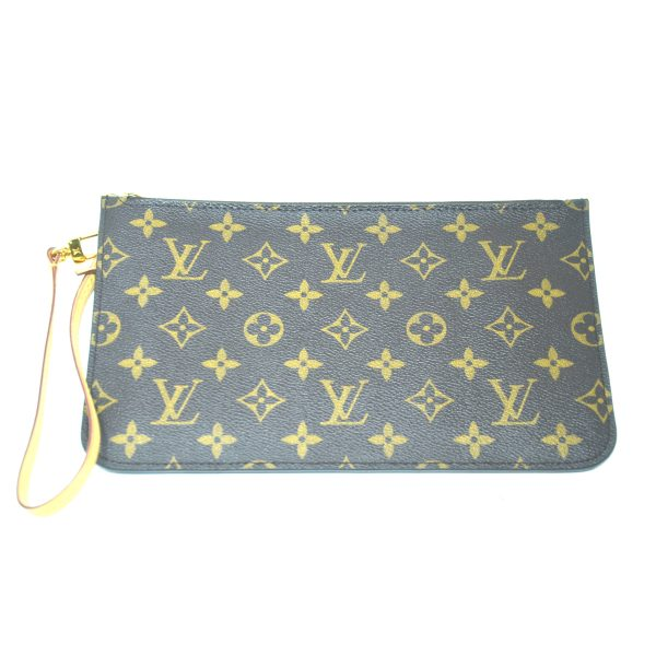 Louis Vuitton Brown Monogram Neverfull Pouch Wristlet