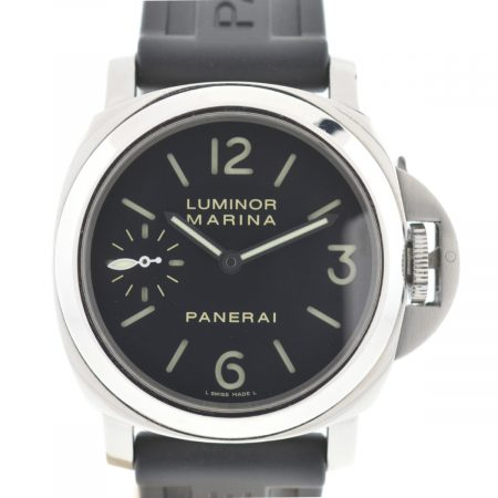 Panerai Luminor Marina PAM 111 Stainless Steel On Black Rubber Strap Watch