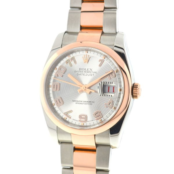 Rolex 116201 Datejust 36mm TT Stainless Steel Rose Gold Automatic Watch