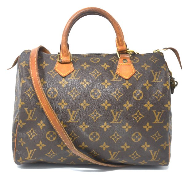 Louis Vuitton Monogram Canvas Speedy 30 Bandouliere Satchel Shoulder Bag