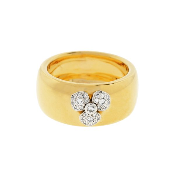 Tiffany & Co. 18k Yellow Gold Petals Collection Diamond Flower Etoile Ring