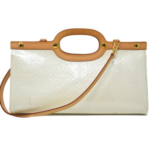 Louis Vuitton Roxbury Drive Pearl White Vernis Patent Leather Shoulder Bag