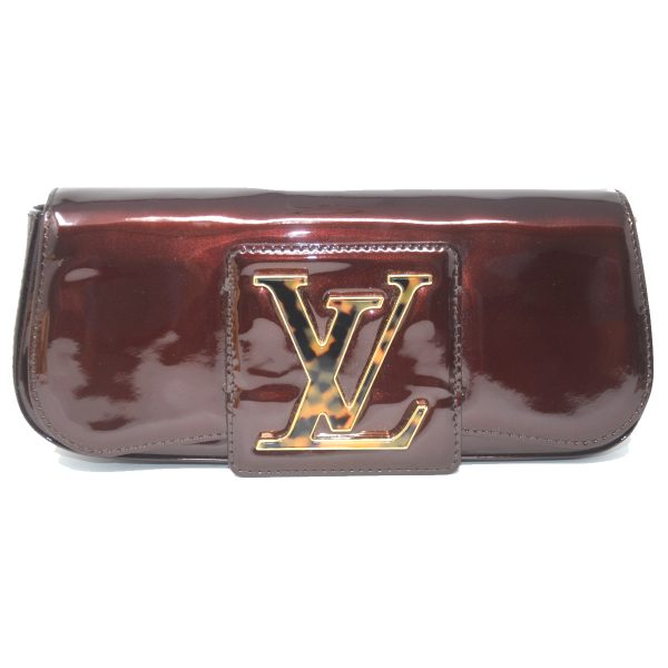 Louis Vuitton Sobe Amarante Vernis Patent Leather Clutch Bag
