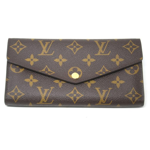 Louis Vuitton Sarah Brown Monogram Canvas Snap Long Wallet