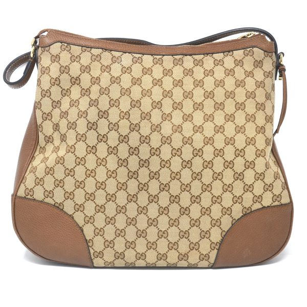 Gucci Brown Monogram Canvas Hobo Shoulder Bag