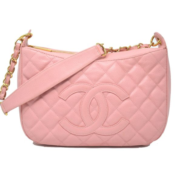 Chanel Pink Caviar Leather Vintage Shoulder Bag