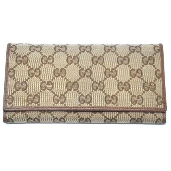 Gucci Monogram Canvas Brown Long Wallet