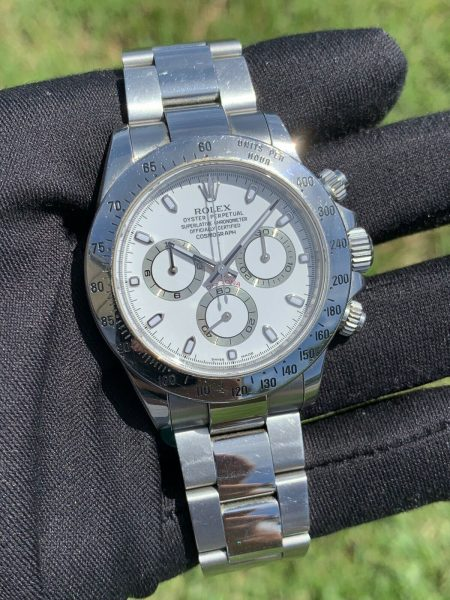"Rolex Daytona 116520 White ""APH Error Dial"" Stainless Steel Watch"