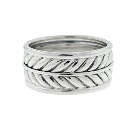 David Yurman Sterling Silver Chevron Men's Ring