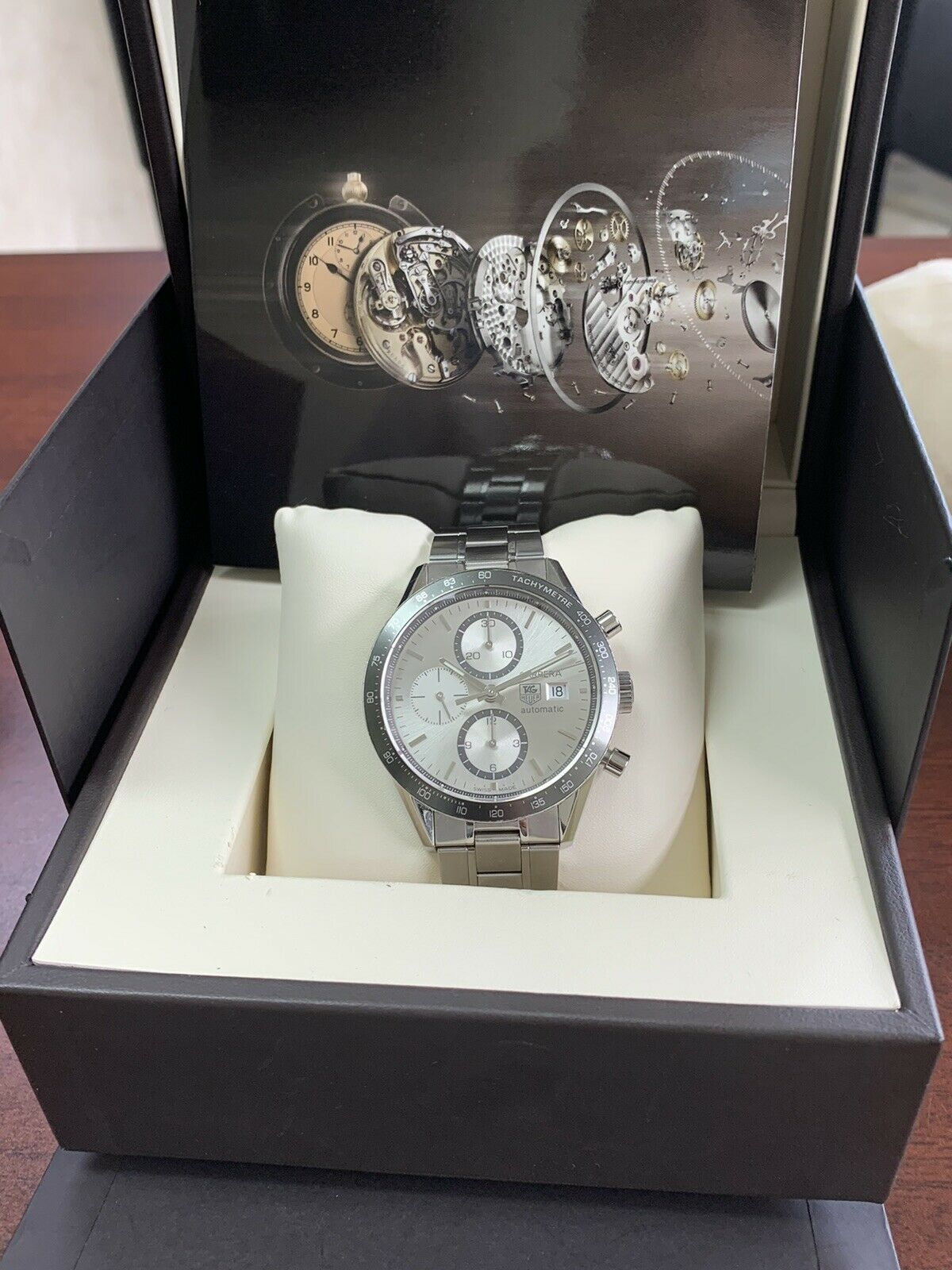 TAG Heuer CV2011 Carrera Chronograph Silver Dial Automatic Men's Watch