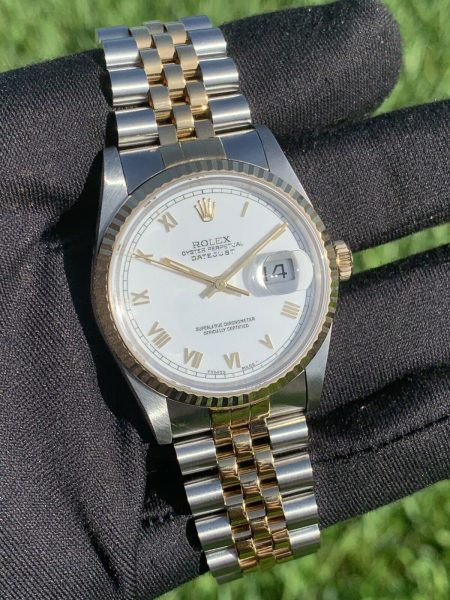 Rolex 16233 Datejust 36mm Two Tone Automatic Watch